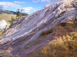Mammoth Hot Spring Terraces by SunfallE