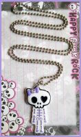 Lilac Skull Necklace by cherryboop