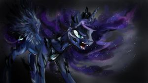 Nightmarish Luna by dreampaw