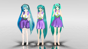 MMD Lucky Star Miku Pack Download by dianita98