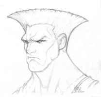 Guile Sketch by Chadwick-J-Coleman