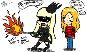 """Pyromania"" With Gaga Style by Kat--Monster"