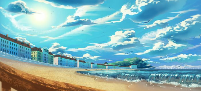 beach test paint by BabaKinkin