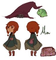 Quick character ref - Mim by QueenCrow