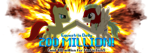 Equestria Daily 200 Million Banner by Alexstrazse
