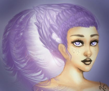 Feather-Lady by Gitta-chan