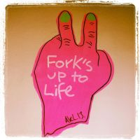 2 fingers up to life by AnalieKate