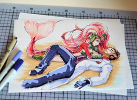 Nami and Jayce by Lighane