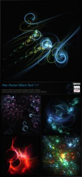 Fractal Stock Pack 11 (transparent PNG) by Hexe78