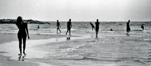 beach silhouettes by d--i
