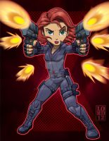 Lil Avengers - Black Widow 3D by lordmesa