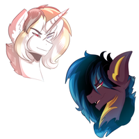 Merlin and Ilhuilt the Handsome Stallions by karsisMF97