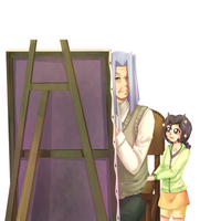 Yugioh: Grandpa is Painting by Yamineftis