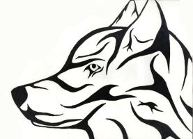 Wolf Tribal lines by Royle-McCulloch