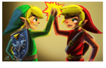 TLOZ - Green Link and Red Link by juli-paints