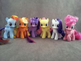 Filly mane 6 - FiM Custom my little ponies by hannaliten