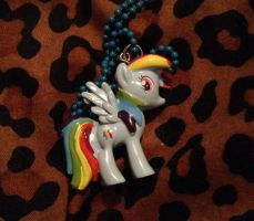 My new Rainbowdash necklace by Firegirl1015