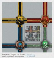 Hogwarts House Logos for Icons by OcalyptuS-s