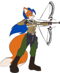 Karina Natsumi Fires her Bow by Flame-Eliwood