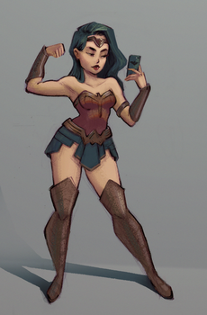Wonder Woman Fan art by GloriaFelix