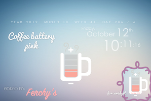 ~'Coffee Battery Pink-Skin de xwidget by FeerChyys