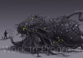 Shoggoth Work In Progress 3 by Eclectixx