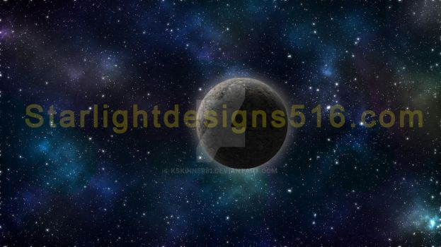 Space With Logo N Moon by kskinner81