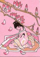ATC- ACEO Pink Dream by claudiamm37