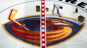 Atlanta Thrashers Before First Game by SapphireLover4505