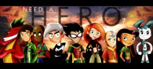Nickelodeon, Cartoon Network, Disney- Need a Hero? by xeternalflamebryx