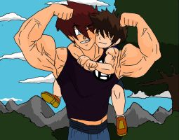 Father son Training: Choker Hold. by Somdude424