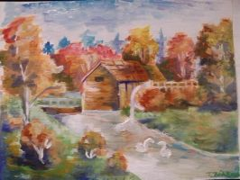 Lanscape for my grandmother by TerezkaAnna