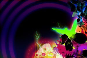 Neon Skull by partyboy9289