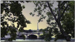 View to Eiffel Tower by ShlomitMessica