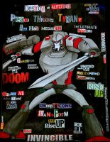 Megatron Collage by Fire-Redhead