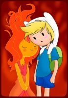 .:Flame Princess and Finn:. by Lord-Hon