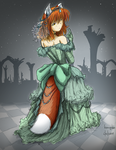 Komugiko in a Ball Gown [colored] by fredrin