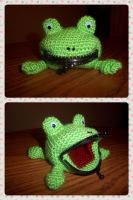 Naruto Frog Coin Purse by TheEmeraldStitch