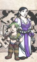 Ironforge Girls by rachelillustrates