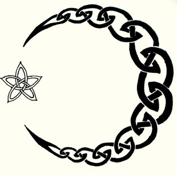 Celtic Moon Tattoo by Iolair01