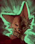 a cat with enormous ears by revioLATE
