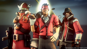 Team Fortress 2 (TF2) - Scout and Sniper and Solly by ViewSEPS
