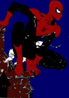 Dynamic Spider-Man: Silent in the night by stick-man-11