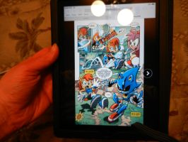 Photo of a page of Sonic #256 on an iPad by dth1971