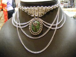 Ruby in Zoisite Aluminum Drape by BacktoEarthCreations