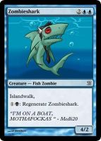 MtG: Zombieshark by Overlord-J