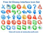 Free 3d Glossy Interface Icons by aha-soft-icons