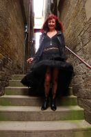 Black Boots and Red Hair by Estruda