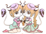 Maca and Loli by SapphireSeahorse