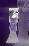 Mandy the ghost cat: for darknessthecat1219 by Clarethecat